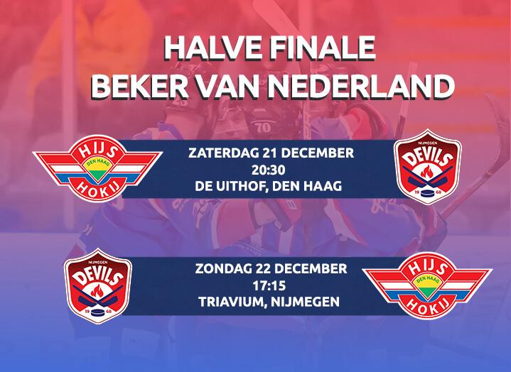 Speelschema halve finale Beker van Nederland bekend!