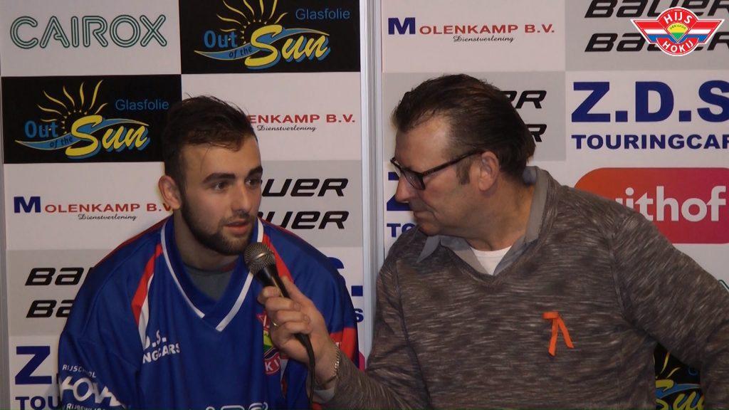 INTERVIEW   Diordy Vols na de gewonnen wedstrijd tegen Tilburg Trappers