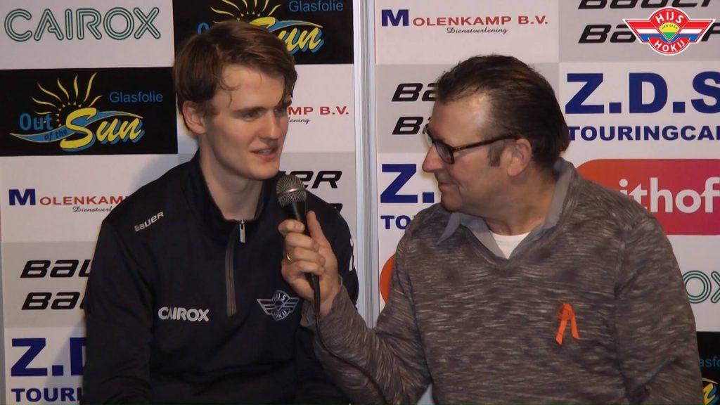 INTERVIEW   Stijn Knoop na de wedstrijd tegen Tilburg Trappers