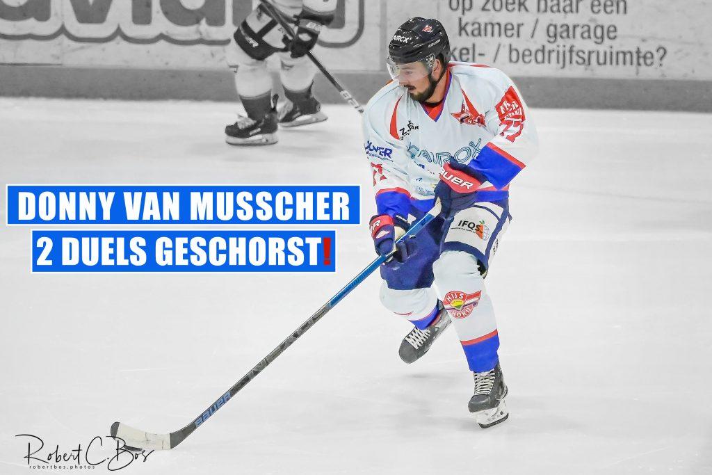 Donny van Musscher twee duels geschorst door BeNe League organisatie